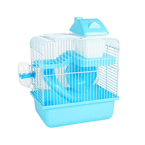 JIASHU 2-Tier Portable Travel Cage for Small Animals, with Accessories Including Exercise Wheel Water Bottle Food Dish and Slide, Suitable for Tour, Apartment