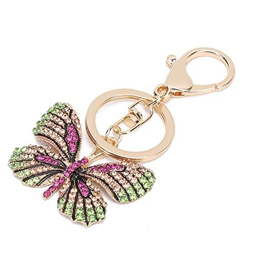 Portachiavi, decorazione chiave squisita fatta a mano alla moda per accessorio borsa per portachiavi(Fucsia)