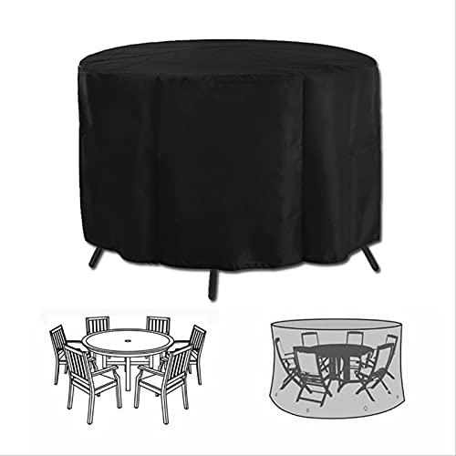 COKEYU Round Table Stuhl Set Outdoor Garten Möbel Abdeckung Wasserdicht Sofa Schutz Patio Regen Schnee Staubdicht Abdeckungen Schwimmbad Abdeckung