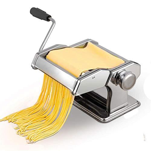 Pasta Machines Handmatige Maker Pasta Machines RVS Noodle Cutter Verse Pasta Maken Machine Deegroller voor Spaghetti en Lasagna Tagliatelle Fettuccine, 2 Blades
