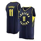Rencai Domantas Sabonis ° 11 Indiana Pacers Multi-Estilo Nuevo Tejido Gran Baloncesto Jersey Calidad (Color : 3, Size : M)