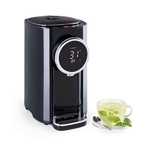 Klarstein Hot Spring Plus Heißwasserspender, Wassertank: 5 Liter, großes LCD-Display, Temperaturen: 45-95 °C, Edelstahl-Wassertank, Trockengeh- & Überhitzungsschutz, Kindersicherung, schwarz
