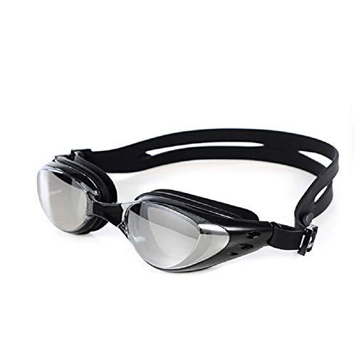 Ikavee Schwimmbrille – Anti-Beschlag-Brille für Erwachsene, Männer, Frauen, Einheitsgröße, wasserdicht, kein Auslaufen, Silikon-Augenmuscheln, verstellbarer Silikonrahmen