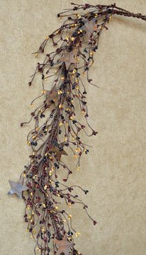 Craft Pip Berry and Rusty Star Garland, Colonial - 45'