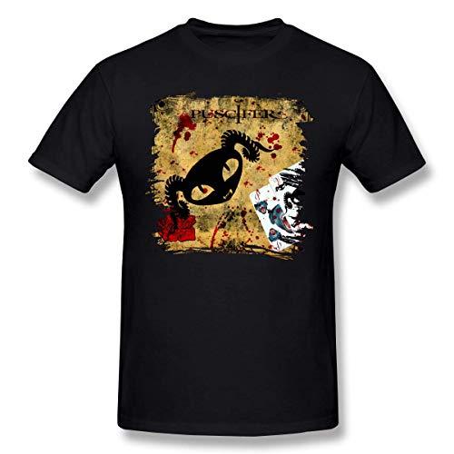 Camisetas Puscifer Music Band Camiseta de Manga Corta de algodón de Moda clásica para Hombre, Manga Corta para Entrenamiento, Uso Diario