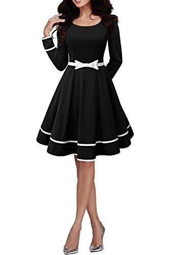BlackButterfly 'Grace' Vintage Clarity Kleid im 50er-Jahre-Stil (Schwarz, EUR 42 - L)