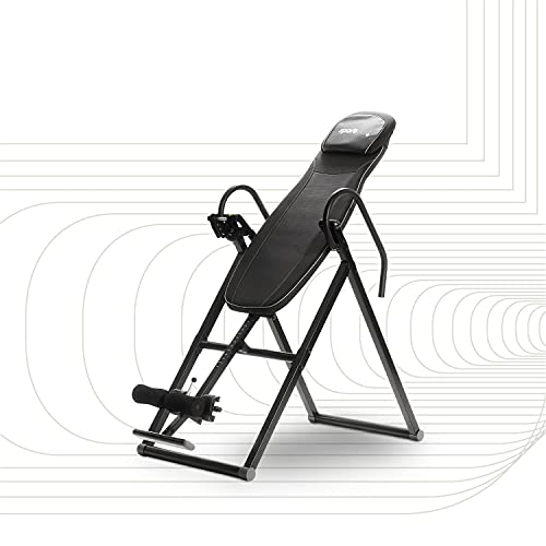 SportPlus banco de inversión plegable, sistema de balance perfecto, entrenador de gravedad, 6 ángulos de inversión, aliviar la columna vertebral, seguridad probada por TÜV hasta 135 kg, SP-INV-010-B