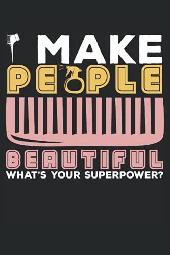 Faccio la bella bellezza qual è la tua superpotenza: Taccuino a forbice |. Taccuino per parrucchiere |. Hairstyle Journal |. Taccuino barbiere |. Notebook di cosmetologo.