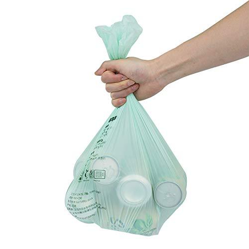 Lihuzmd 44X52cm-20Pcs / Rolls Biodégradable Sac Poubelle, Sac Poubelle, Sac Poubelle Biodégradable Compostable pour Les Déchets De Jardin Domestique Nourriture dans La Cuisine,1roll