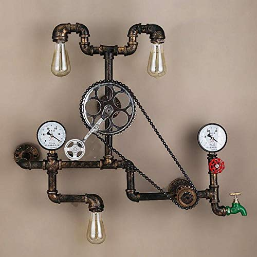 Industrial Iron Steampunk Wall lamp Coffee Shop bar Bicycle Bike lamp Coffee Shop bar Restaurant Retro Wall lamp Lights steampunk buy now online