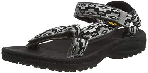 Teva Winsted, Sandalias de Punta Descubierta Mujer, Multicolor (Monds Black Multi Mbcm), 41 EU