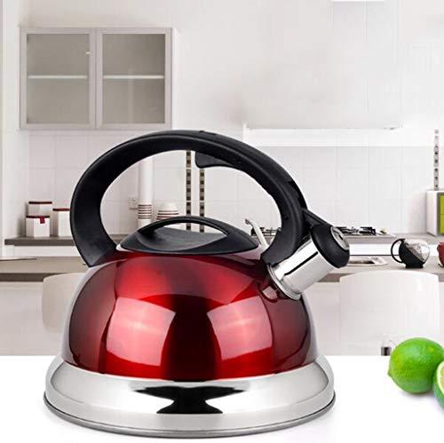 304 Acier Inoxydable Bouilloire Eau Bouillante Sifflet Automatique Épaississement Cuisinière À Induction Cuisinière À Gaz Cuisinière À Gaz Théière 3L / 4L (taille : 3L)