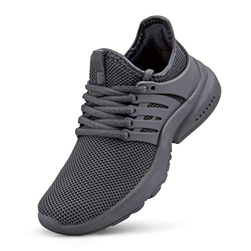 NYZNIA Boys Girls Shoes Tennis Running Lightweight Breathable Sneakers for Little Kids Grey Size 2