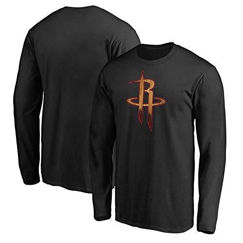 HuWai-Outdoor T-Shirt Manches Longues NBA Houston Rockets, Ventilateurs de Basket-Ball, Confortable