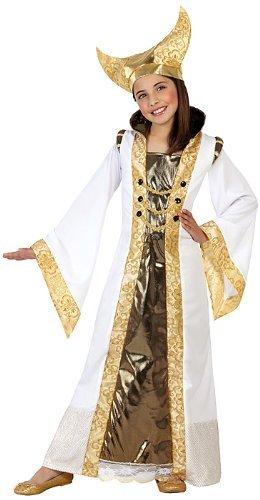 Lemon Tree SL Middeleeuwse kostuum voor kinderen, goudkleurig, 2-delig, party, vergaderingen, carnaval.