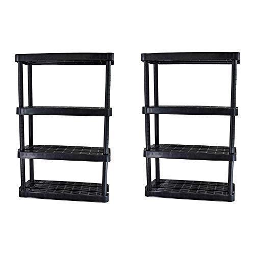 Ponacat Floating Wall Mount Shelf, Solid Wood Wall Shelf Display Ledge Storage Rack(S Without Metal Bar)