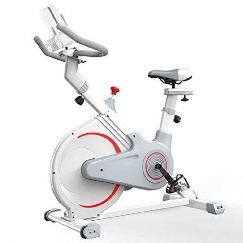 SXX Erguida Control magnético de la Bicicleta estática, dinámica Cubierta del Pedal de la Bicicleta, Tiempo/Velocidad/Calorías, para Ejecutar Entrenamiento de la Quema de Grasas,Blanco