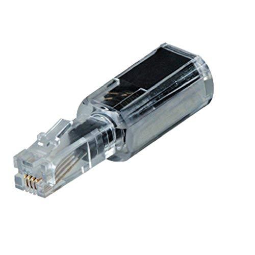 Hama Anti-Twist-Adapter zum Entwirren von Telefonkabeln (Untangler, 360° drehbar) transparent/schwarz