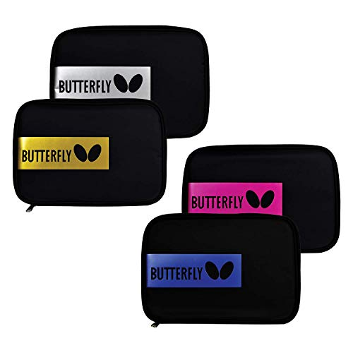 Butterfly Table Tennis/Pingpong Paddle Case - BD Tour Case - Heavy-Duty Nylon, Tray Divider Available to Hold Two Rackets and Four Balls, Accessory Pouch Inside, Comes in Blue/Rose/Silver/Gold Colors