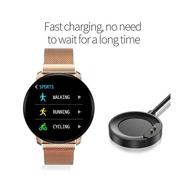 Smartwatch Fashion para Hombre Mujer Impermeable Reloj Inteligente Monitores de Actividad Fitness Tracker con Monitor de… 6