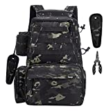 Sucipi Fishing Tackle Backpack Outdoor Large Fishing Tackle Bag Water-Resistant Fishing Backpack with Rod Holder Backpack for Trout Fishing Outdoor Sports Camping Hiking