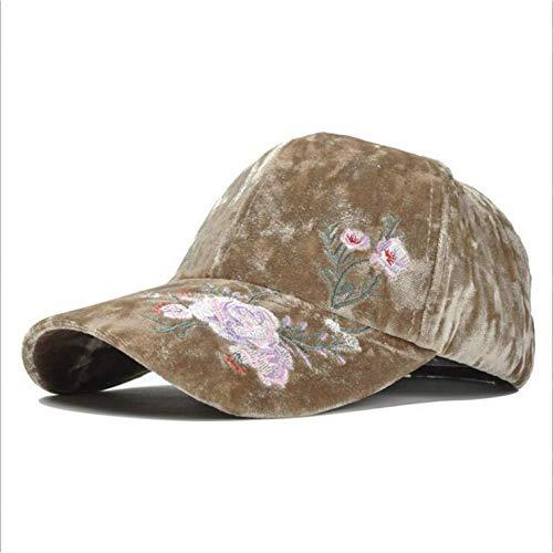 ZHAOTD Baseballmütze Stickerei Rose Blume Kappe Frauen Mütze Baseballmütze Wintermode Hut Für Männer Sports Outdoor Baseball Cap