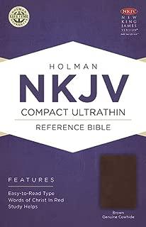 NKJV Compact Ultrathin Bible, Brown Genuine Cowhide