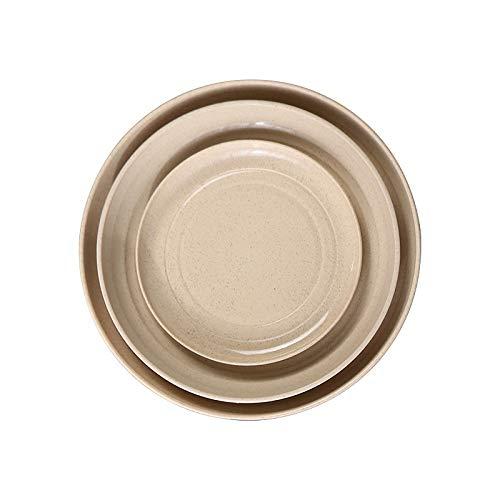 Placa de cena de paja de trigo respetuosa con el medio ambiente Microondas comestible seguro Biodegradable platillo (Color : Beige)