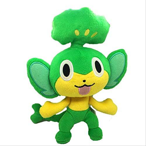 N\A Juguete De Peluche De Pokemon Pansage De Dibujos Animados, Muñeca Rellena De Juguetes De Monkry, Regalo para Niños 20cm Verde