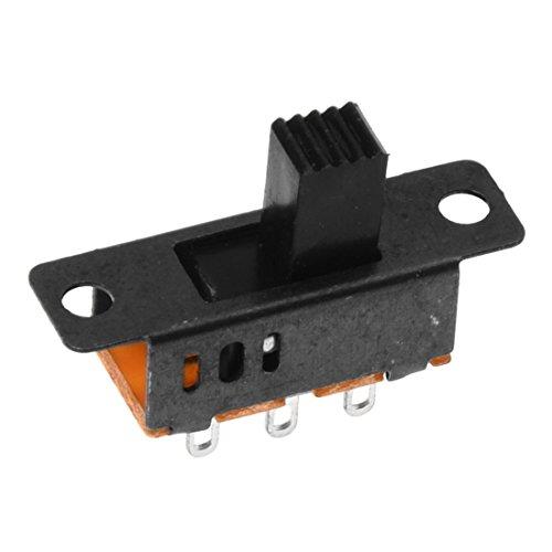 Senmubery 10 x 0.5A 50V 3 posiciones 2P2T Interruptor deslizante de montaje en panel DPDT SS23D32
