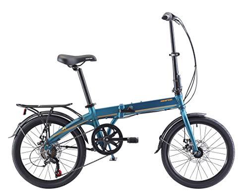 KESPOR K7 Folding Bike for Adults, Women, Men, Rear Carry Rack, Front and Rear Fenders, Shimano 7...