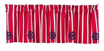 IHF Home Decor Valance Wheel Design Window Treatments Curtain 100% Natual Cotton Material 60 Inch x 16 Inch Valances Curtain