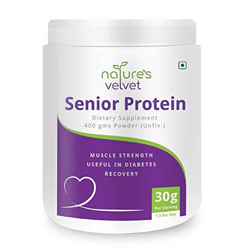 natures velvet Senior Protein An Essential Energy and Strength Drink for Seniors and Elders, 400 g