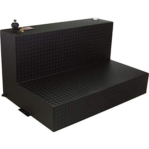 RDS Aluminum Transfer Fuel Tank - 95-Gallon, L-shaped, Black Diamond Plate, Model Number 70388PC