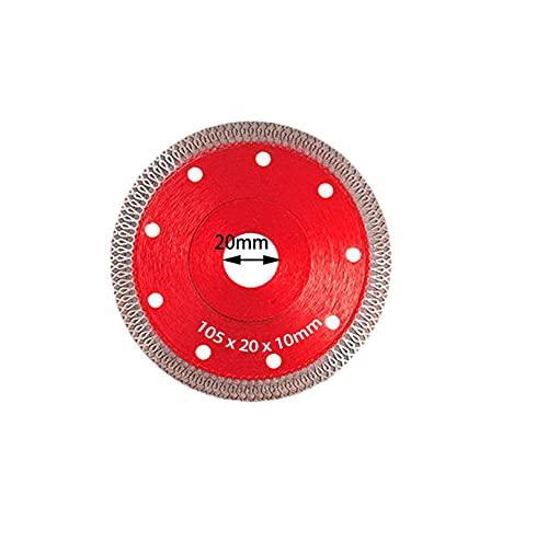 SHUANGXI Benliestore Turbo - Hoja de sierra de diamante para granito y mármol, hojas de cerámica para azulejos de porcelana, 3 tamaños para amoladora angular (color: 1 unidad roja de 115 mm)