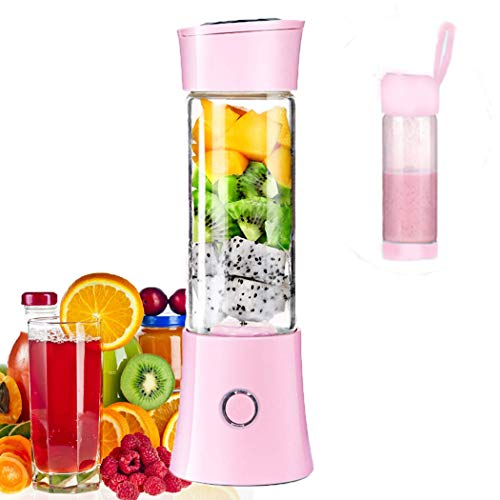 Batidora portátil Juice batidora Milk-Shake, zumo de frutas y verduras, batidora, 480 ml, sin BPA, mini USB licuadora de Smoothies, 100 W, Navidad, regalo para la familia