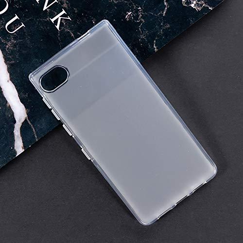 Capa para BlackBerry Motion, capa traseira de TPU macia resistente a arranhões à prova de choque, gel de silicone, borracha anti-impressões digitais, capa protetora de corpo inteiro para BlackBerry Motion (branca)