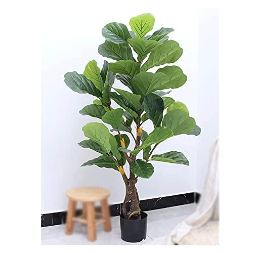 ROM Simulación Bonsai Tree La Planta en Maceta de Ficus de Hoja de ficus Artificial de 80 cm Que no es fácil de Romper Tiene un Alto Grado de simulación, árbol Artificial, ve