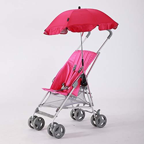 Opvouwbare kinderwagen, 360 ° draaibare vijfpuntsgordel met ingebouwde schokabsorberende gordel en parasol,Pink