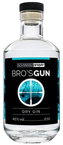 schwarzstoff BRO'S GUN DRY GIN – 40% Vol. (1 x 0.5 l)