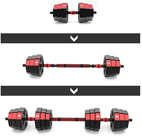 Timebreak Manubri Fitness + bilanciere 20 kg, Nuovo Completo di Pesi da Allenamento in Cemento, Un Set di Pesi da 20 kg,