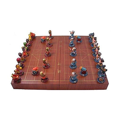 Nologo Xjdmg Ajedrez Plegable de Dibujos Animados de ajedrez Chino Juego de Mesa Chino de la Historieta de ajedrez/Padres e Hijos la colección de los Amantes del ajedrez Buen Regalo Juegos de Mesa