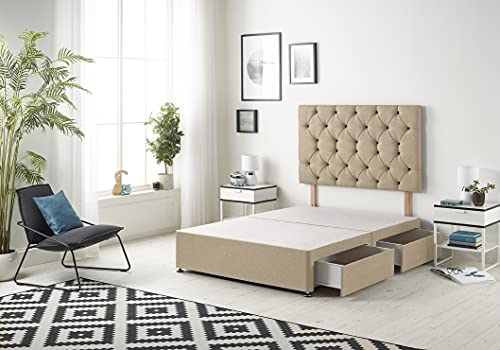 Bed Centre Premier Divan Base with 2 Drawers and Matching Headboard -...