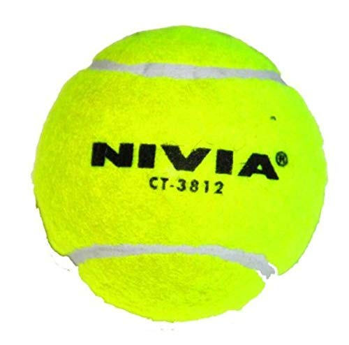 Nivia Heavy Tennis Ball Cricket Ball (Pack of 12), Yellow