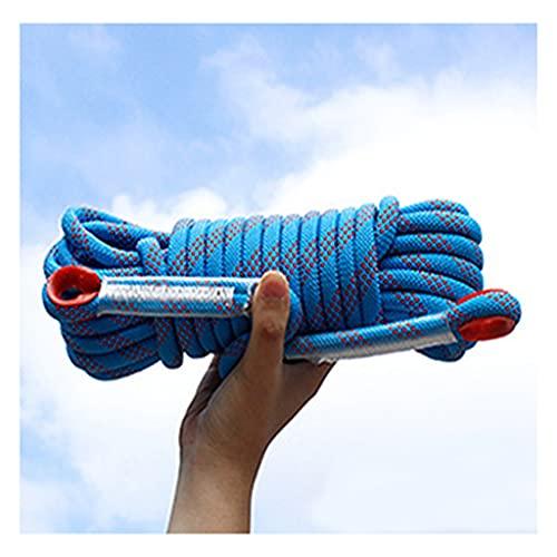 QHY Cuerda De Escalada 12mm Al Aire Libre Y En Interiore Perfessional Rappelling Auxiliar para Camping Exterior Senderismo Accesorios Deportes (Color : Blue, Size : 20m*12mm)