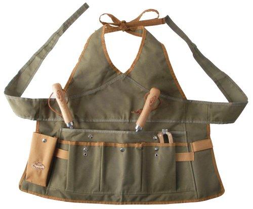 Esschert Design Damenschürze, Gartenschürze mit Taschen, ca. 68 cm x 1 cm x 64 cm