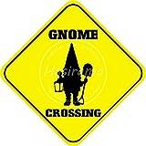 Gnome Crossing 金属板ブリキ看板警告サイン注意サイン表示パネル情報サイン金属安全サイン