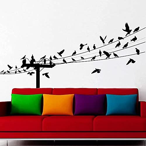 Etiqueta de la pared del pájaro en línea vinilo decoración del hogar...