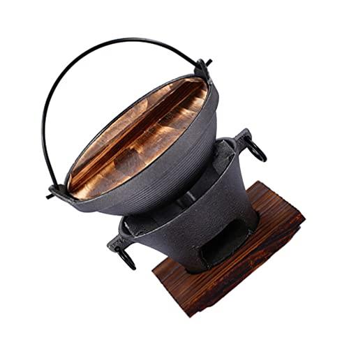 YARNOW Maceta Sukiyaki Japonesa de Hierro Fundido Maceta de Hierro Fundido para El Hogar para Acampar Picnic Aire Libre