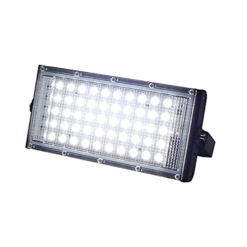 YUYDYU Luces de inundación LED, 50 W 5000lm blanco seguridad jardín luz IP65 impermeable reflector al aire libre Searchlight Patio Lámparas jardín bulbos iluminación paisaje